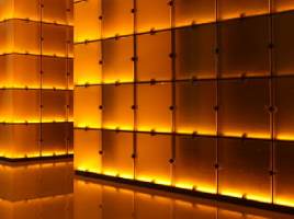 Glowing graphene walls